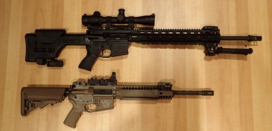 "Size comparision vs. LWRC 14.5""Carbine"