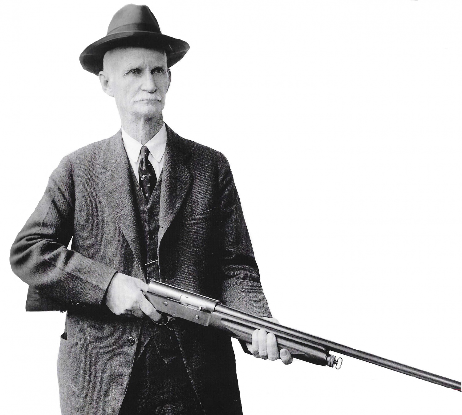 Image result for john browning holding a win 97 shotgun