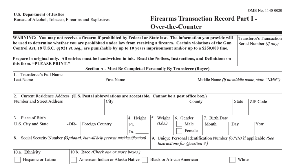 form 4473 current address  How closely have you read the 13? -The Firearm Blog