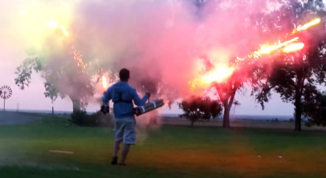 Firework cannons