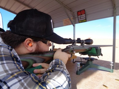 Nathan F. shooting a .375 Magnum Mauser wearing his TFB hat.
