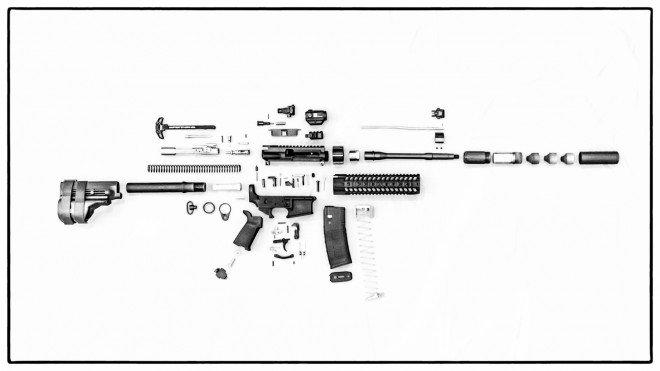 ar-15 parts weights database