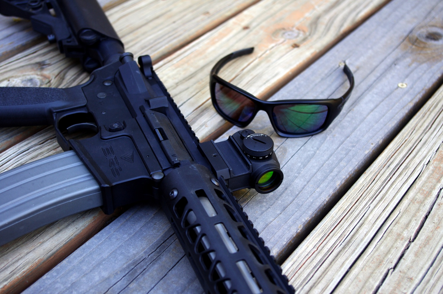 d58ad36fb6 Aimpoint T1 and Oakley PRIZM MARITIME sunglasses. The Aimpoint T1 did fine