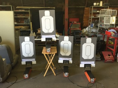 AutoTargets set up and linked in BMC Tactical's workshop.