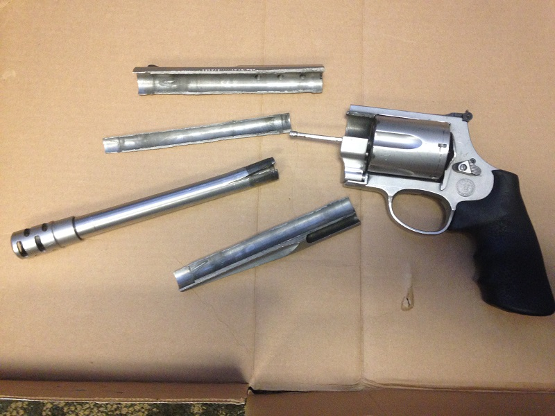 "Here's what happened to our S&W 500 here on the range. It's been used on a daily basis for nine months with weekend use a bit higher. Davidson's (who we purchased it from) won't warranty or repair it because they ""have determined that the damage to this weapon was not the result of a defect in the materials or workmanship of the firearm"". They actually said... ""We do not recommend firing this firearm as it is not in a safe condition to shoot"". Not to poke fun at the blind but I'm pretty sure Stevie Wonder see that it's not safe to shoot We use Magtech ammo in this weapon and never had an issue with the lot as we shot plenty of ammo prior to this in our other S&W 500. We didn't feel the need to quarantine the ammo and the rest of the lot was used without issue. Since this happened, we are now going to put a six-month life span for all of our S&W as a preventative measure to avoid any possible injuries. Speaking of injuries, nobody was injured but the shooter was a bit shaken up just because of the weapon falling apart after the shot went off. He was a good sport about it and ended up shooting the other S&W 500 and we put him on a Desert Eagle .50AE and M134 minigun for free because of the scare. EDITED: Smith & Wesson sent the letter saying they won't repair it to Davidson's (who we purchased it from).Here is a Sig P226 Mk25 that's been on the line for at the very minimum of one year. You can see that there is a slightly shiny edge (photo looks worse than actual weapon) where the slide and frame come in contact. The only rear wear on the weapon is on the outside from handling."