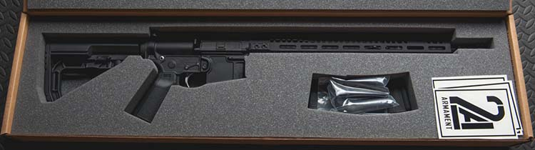 rifle in box