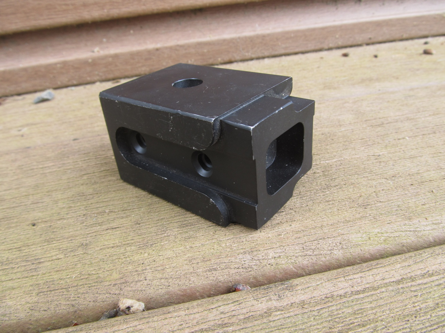 PKM folding stock block adaptor that the company makes.