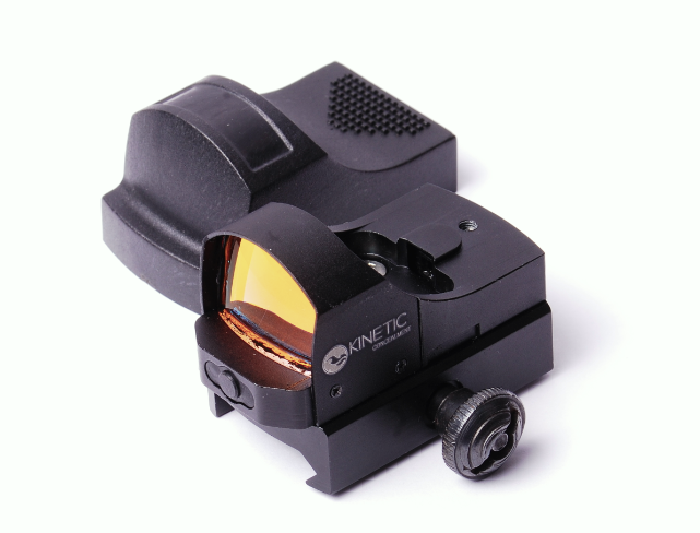 KC Red Dot Sight Open Re ex Red Dot w/Integral Weaver Picatinny Mount Item Number: RD-01 - MSRP: $59.95