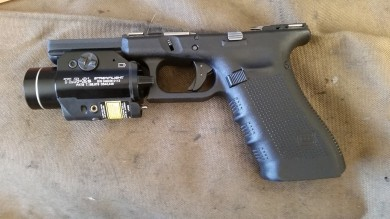 Installed in the G22 frame for easy comparison to a similar trigger.