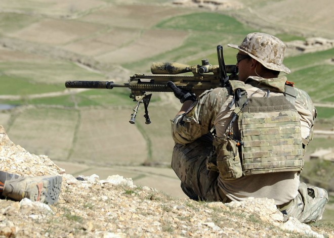 Special Forces (unit and county unknown) uses a FN SCAR SSR in Afghanistan.