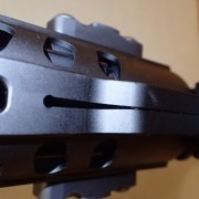 The handguard seemed a bit overtightened, observe the bend in the metal