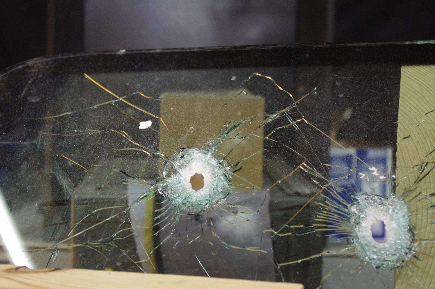 Holes in the glass...