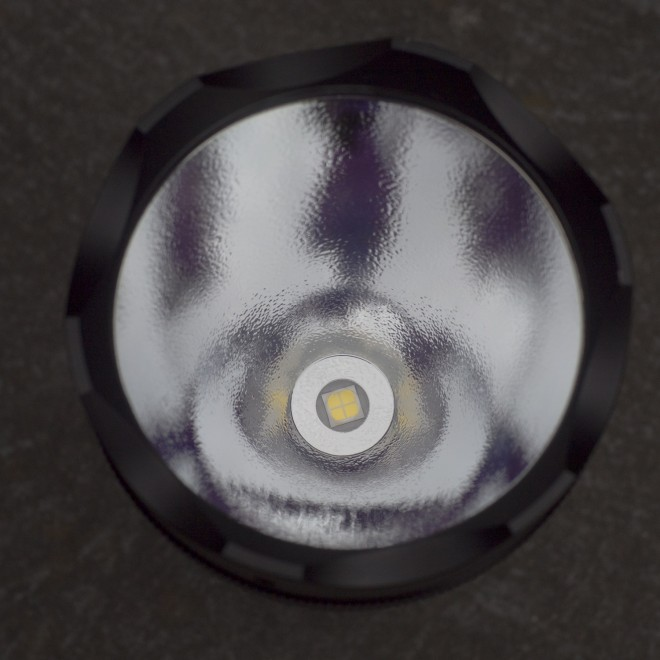 A deep reflector and Cree XHP70 LED Lamp