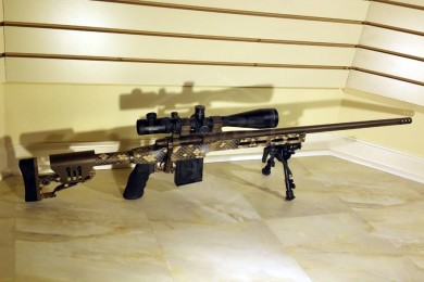 Group fired at 100 yards with above-pictured rifle