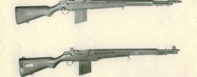 The Remington-developed T22E2 (top) and its ancestor, the T22. Image source: ww3.rediscov.com