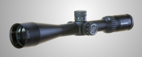 Another look at the Nightforce SHV 4-14x50 F1 rifle scope by itself.