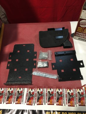 Hardware including 2 mounting plates and universal holster.