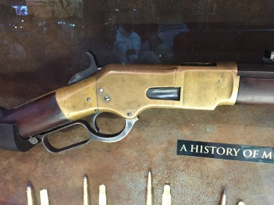 """The receiver that gives the Model 1866 its """"Yellow Boy"""" nickname"""