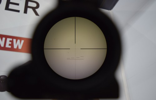 The display model had the P4LF reticle.