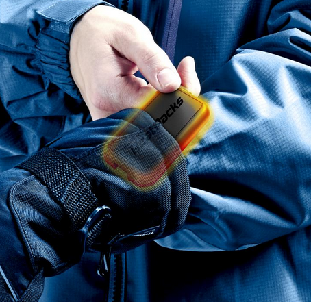 slip the hand warmers into your gloves to stay comfortably warm for hours.
