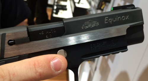 Another look at the Nitron coated and brushed P227 Equinox slide.