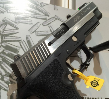 The P227 Equinox 2-tone slide is designed for contrast.