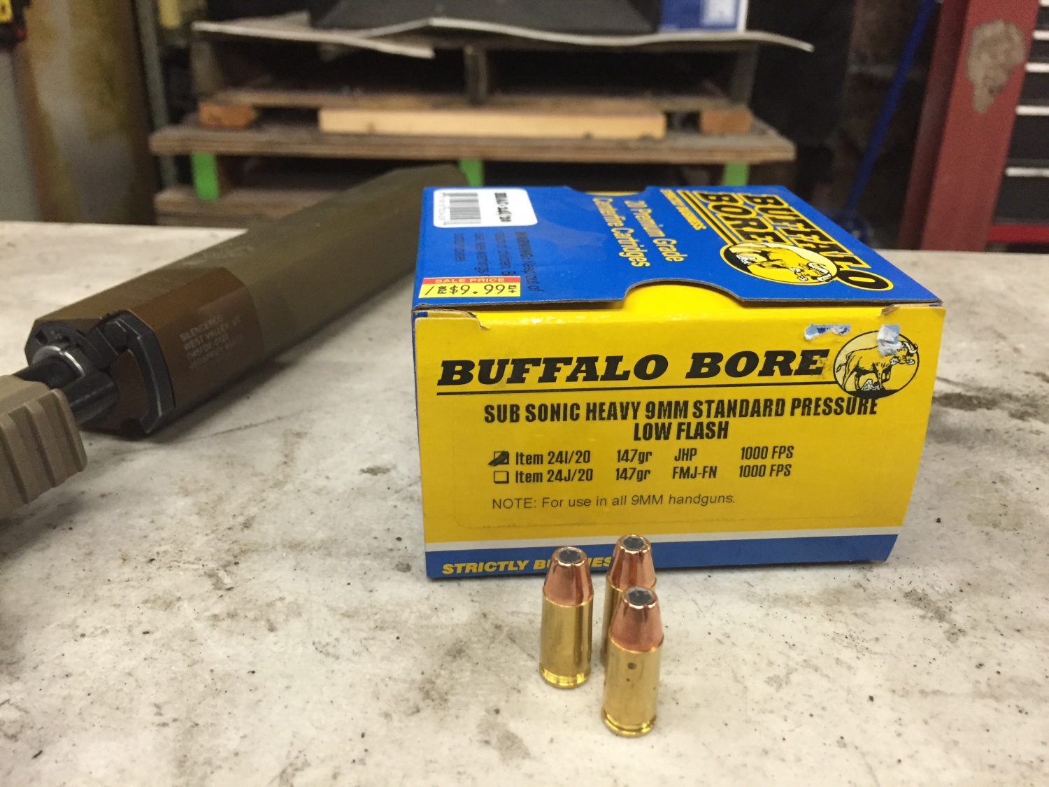 The Buffalo Bore sub sonic ammo I ran.