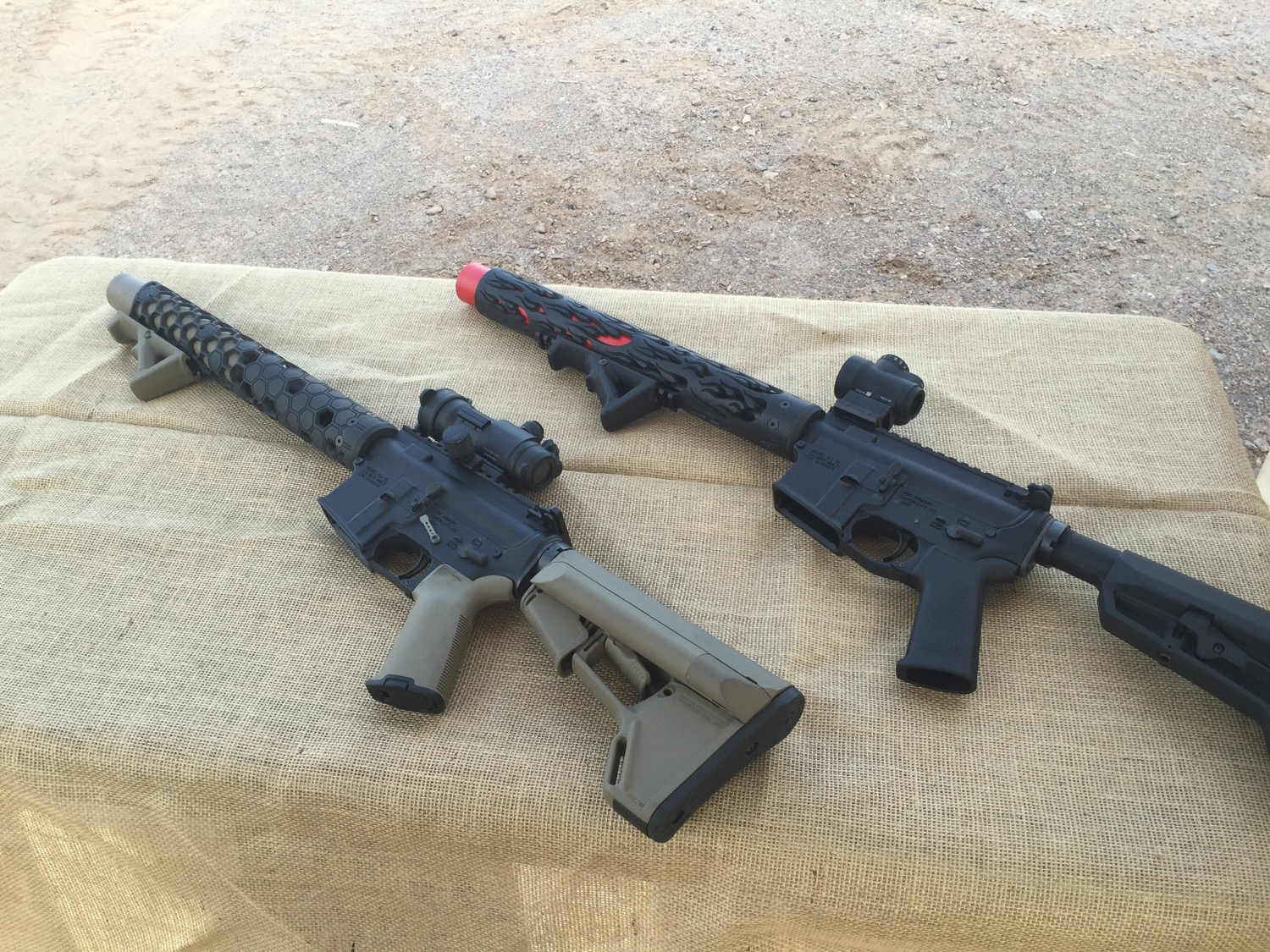 Integrally suppressed .300 Blackout AR