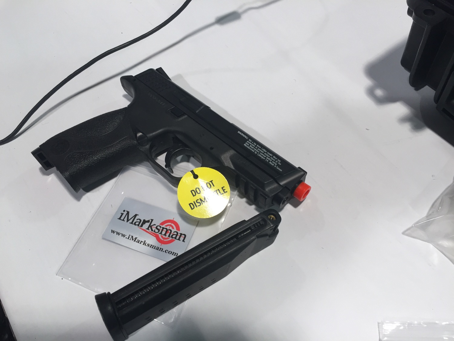 Modified Airsoft pistol that can be used with iMarksman