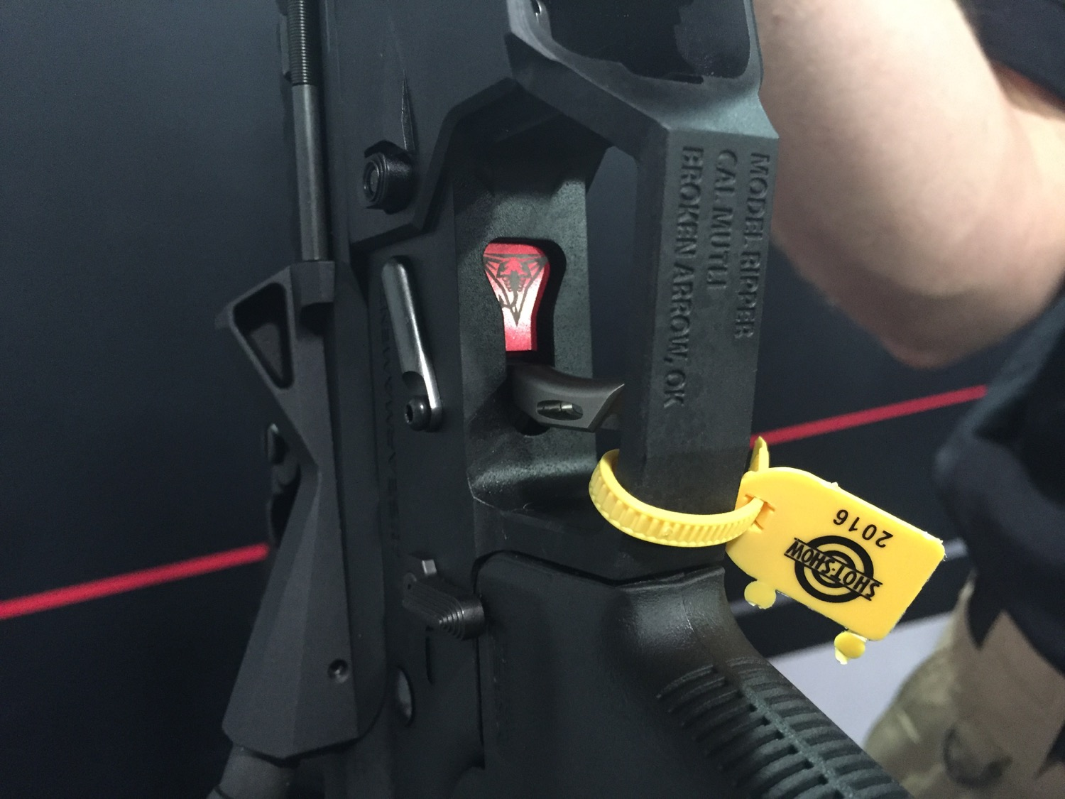 Cutout to see the logo on the trigger. Still my favorite trigger.