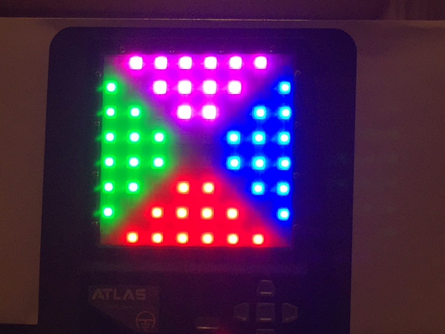 """LEDs are SUPER bright and would work very well outside. The ATLAS has a number of training modes like Simon/Memory, """"Crowd"""", and Hostage which allow for very different training opportunities."""
