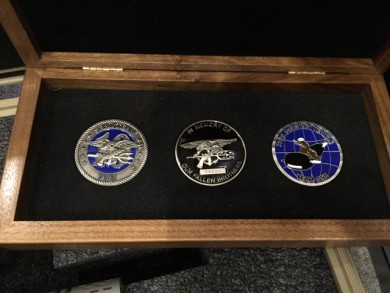 The winner will also receive an engraved wooden box containing a set of special challenge coins that tell the story of Operation Red Wings. The box also contains Matt's personal, serialized challenge coin that is also etched on the rifle itself.