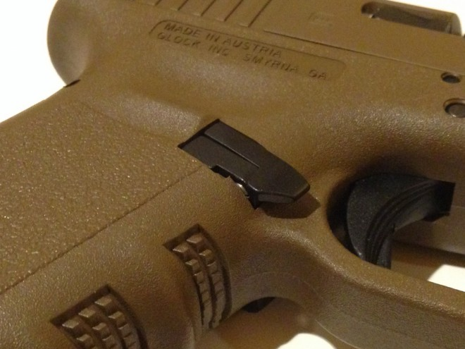 SHOT 2016] Battleline Industries Ambi Glock Mag Release -The