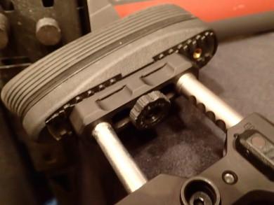the new wheel allows for tool-less adjustment of the buttpad