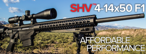 The SHV 4-14x50 on a Ruger Precision Rifle.