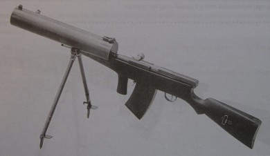 6.5mm Fedorov-Degtyarov light machine gun with water-cooled barrel, produced in 1922
