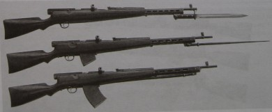 7,62x54R Fedorov automatic rifles, produced for Red Army trials in 1926. Their design was based on the 6.5mm avtomat