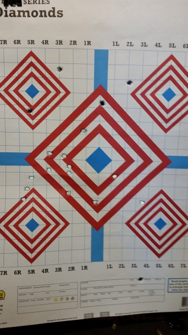 25 yards, standing, slow-fire.