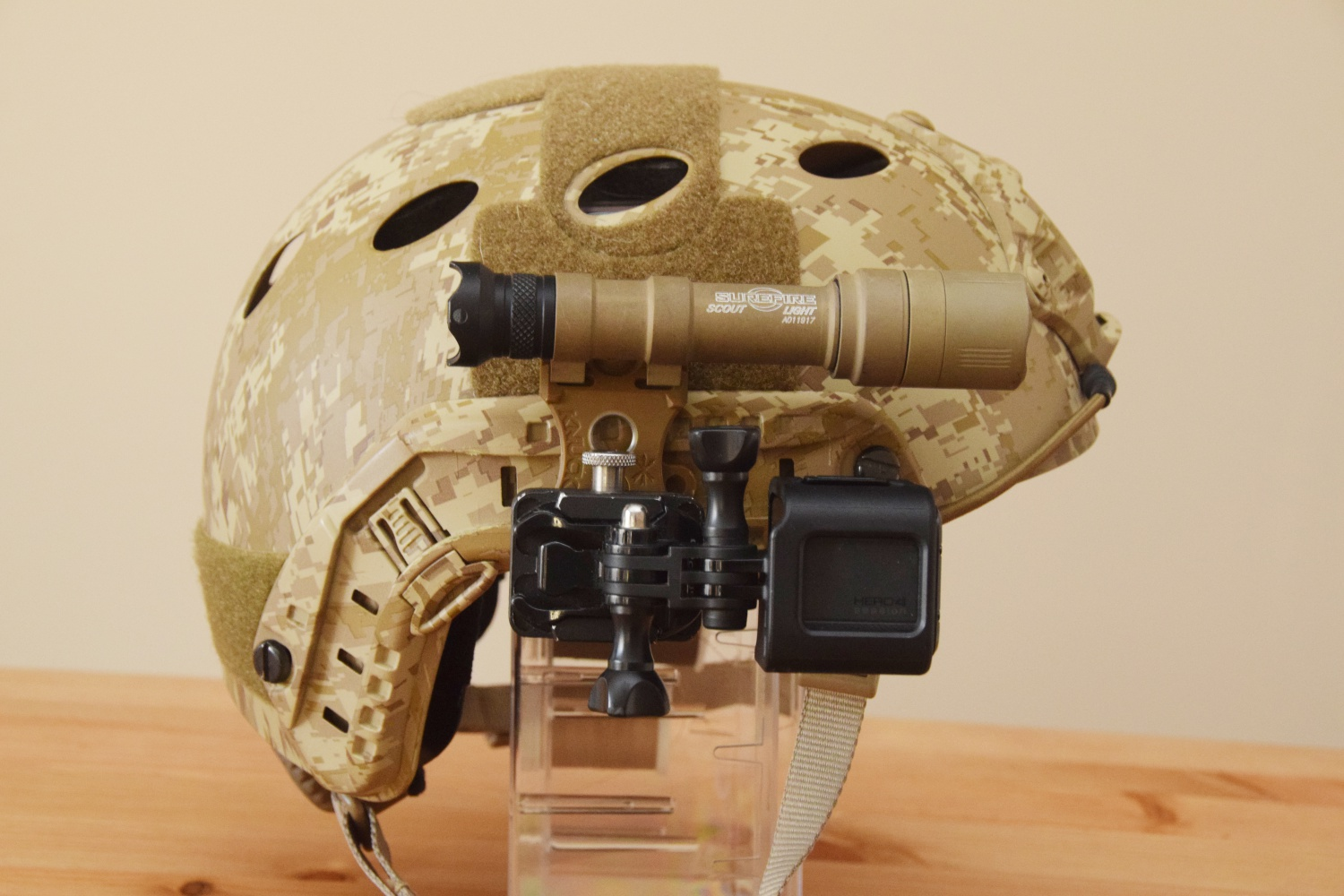 Unity Tactical Knuckl Helmet Mount As Gopro Mount The