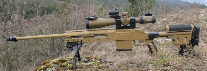 The Haenel RS9 in G29 configuration. Color RAL8000 and caible .338 LM.