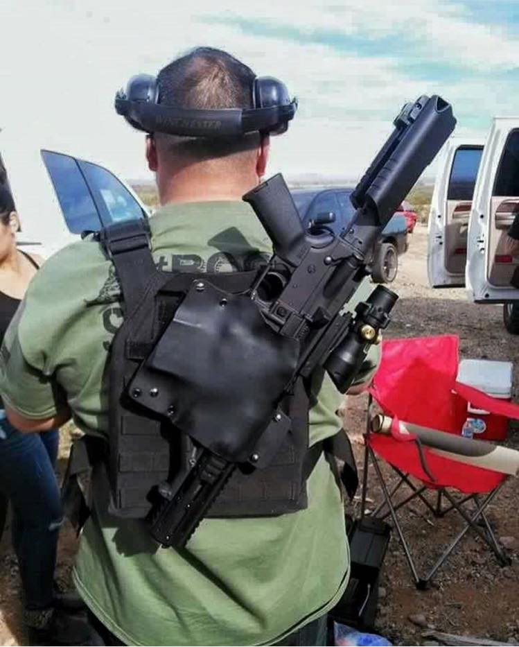 Potd Ar Pistol Back Shoulder Holster The Firearm Blog