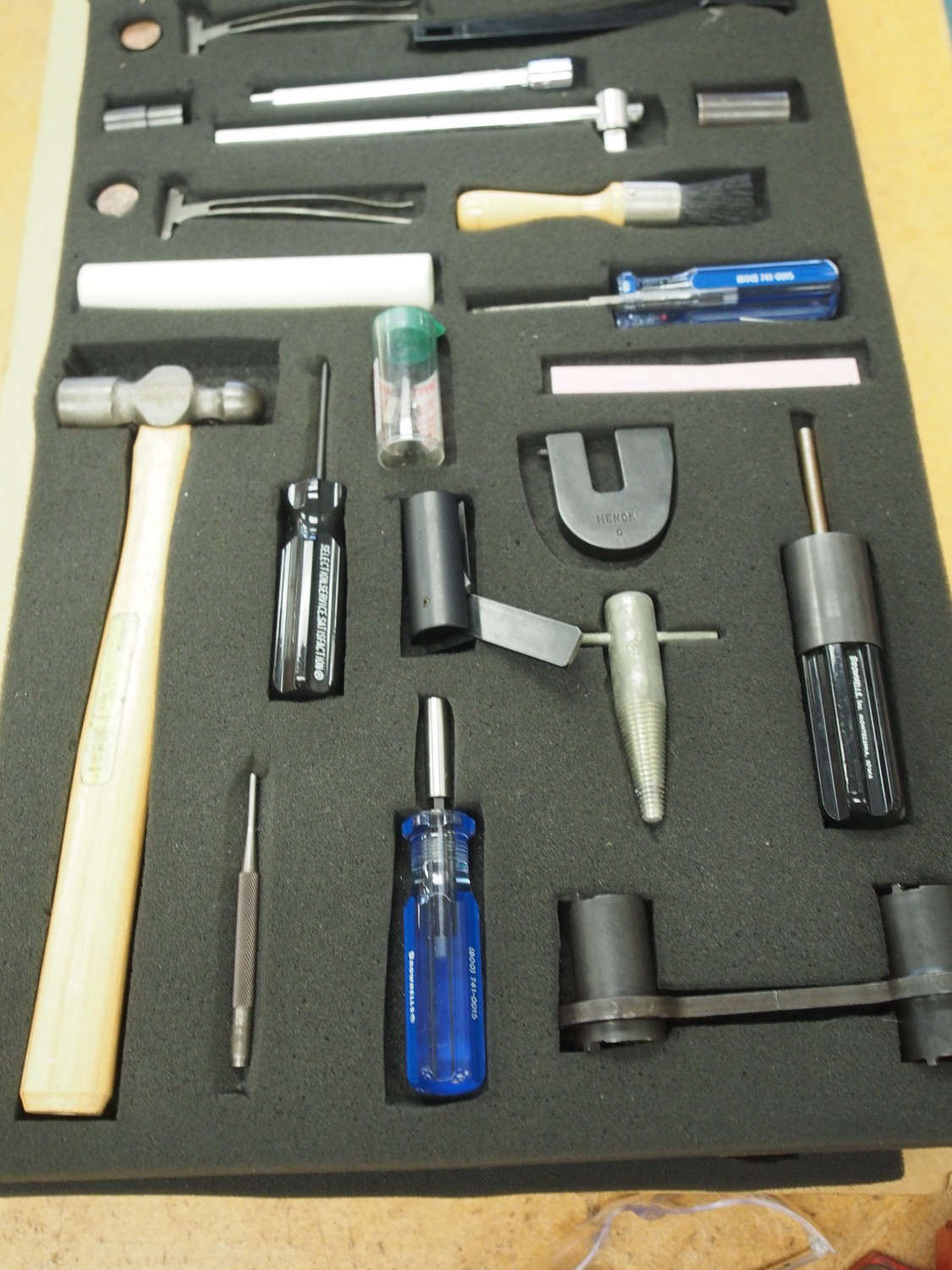 Gunsmith tools for each student.