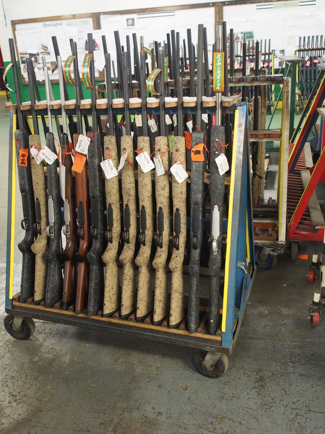 Various Remington 700 Models. These special orders are complete and ready for inspection, packaging and shipping to the customer or police departments.