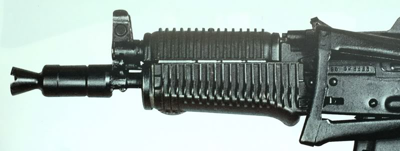 Experimental plastic handguards from 1986.