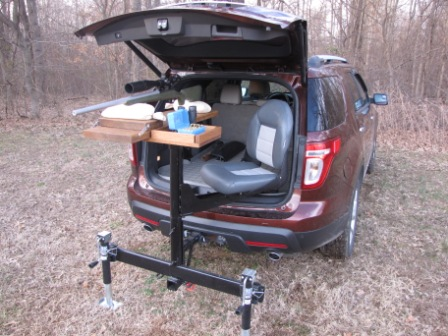 Self Made Trailer Hitch Shooting Bench The Firearm