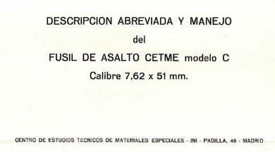 Official manual for CETME Model C 7.62mm rifle