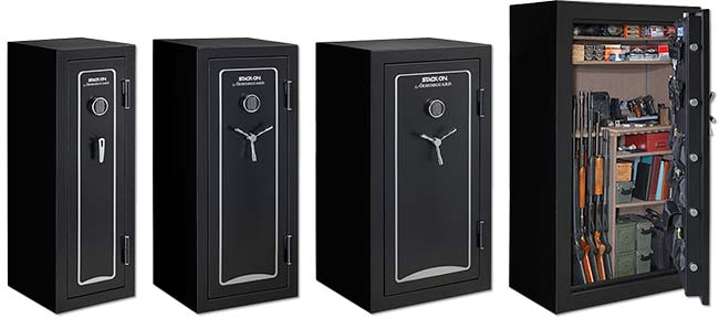 stackon announced a new line of rifle safes called the armorguard series the new safes come in four sizes with stated capacities up to 64 guns
