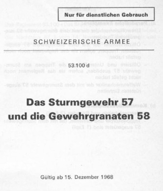 Official manual for 7.5mm Stg.57 automatic rifle