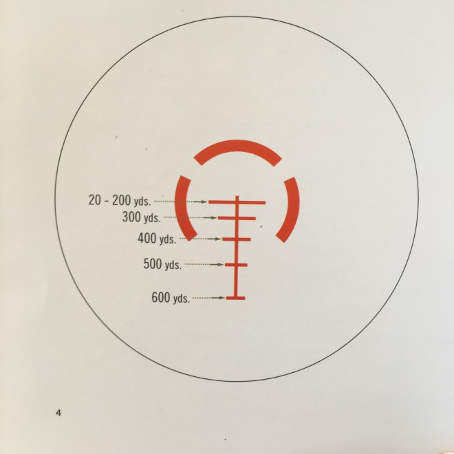 The AR-BDC reticle