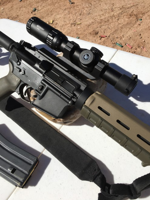Vortex first launched the Strike Eagle 1-6 x 24mm riflescope in mid-2015.  The scope itself is marketed by Vortex as being dual use: Shooting Tactical/ Hunting.